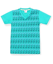 Tonyboy Boys Trendy Printed T-Shirt - Arctic Blue