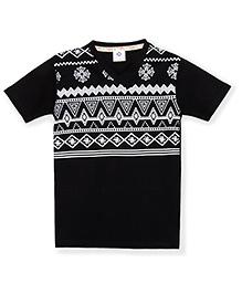 Tonyboy Boys Trendy Printed T-Shirt - Black