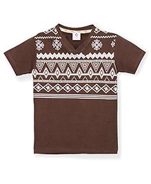 Tonyboy Boys Trendy Printed T-Shirt - Brown