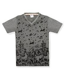 Tonyboy Boys Trendy Printed T-Shirt - Grey