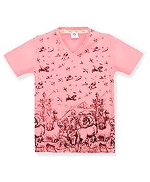 Tonyboy Boys Trendy Printed T-Shirt - Peach