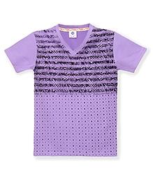 Tonyboy Boys Trendy Printed T-Shirt - Purple