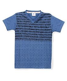 Tonyboy Boys Trendy Printed T-Shirt - Blue