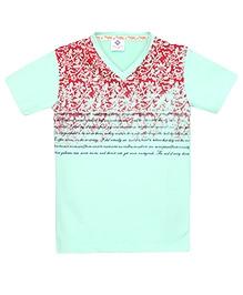Tonyboy Boys Trendy Printed T-Shirt - Sea Green