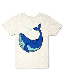 The Lion And The Fish Blue Whale Tee - Off White