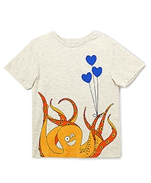 The Lion And The Fish Octopus Tee - Off White
