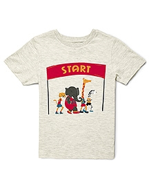 The Lion And The Fish Speedy Cheetah Tee - Off White