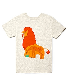 The Lion And The Fish Hungry Lion Tee - Off White