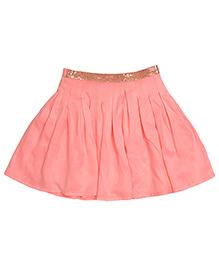 Miyo Pleated Polyester Skirt - Pink