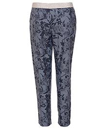 Miyo Cotton Full Length Printed Pant - Blue