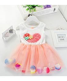 LivFuture Elegant Floral Dress - Peach
