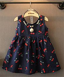 LivFuture Stylish Cherry Dress - Black