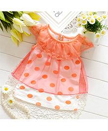 LivFuture Polka Dot Baby Dress - Orange