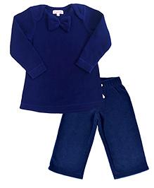 CrayonFlakes Polar Fleece Top & Pyjama Set - Navy