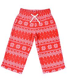 CrayonFlakes Jacquard Polar Fleece Pyjama - Coral
