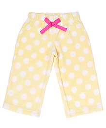 CrayonFlakes Polka Dots Polar Fleece Pyjama - Yellow