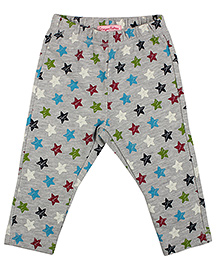 CrayonFlakes Stars Fleece Pants - Grey