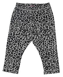 CrayonFlakes Animal Print Fleece Pants - Grey