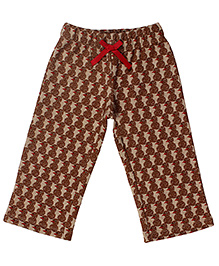 CrayonFlakes Snowman Fleece Pants - Brown