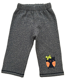 CrayonFlakes Owl Patch Brushed Fleece Pants - Grey