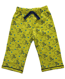 CrayonFlakes Charming Fish Fleece Pants - Flouroscent Green