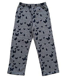 CrayonFlakes Enchanting Butterfly Grindle Fleece Pants - Charcoal Grey
