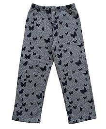 CrayonFlakes Enchanting Butterfly Grindle Fleece Pants - Charcoal Grey