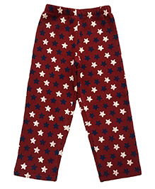 CrayonFlakes Stars Fleece Pants - Maroon