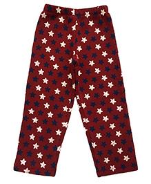 CrayonFlakes Stars Fleece Pants - Maroon