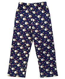 CrayonFlakes Curious Fish Fleece Pants - Indigo Blue