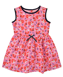 CrayonFlakes Fox Print Dress - Pink