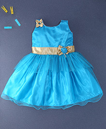 Winakki Kids Trendy Party Dress - Blue