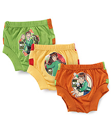 Ben 10 Briefs Orange Yellow And Green - Pack Of 3