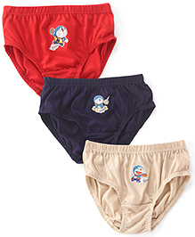 Doraemon Briefs Pack of 3 - Red Navy Fawn