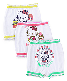 Hello Kitty Printed Bloomers Pack Of 3 - Green Yellow Pink
