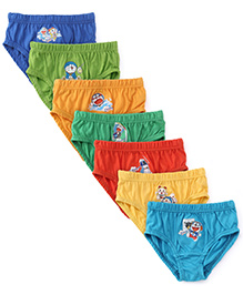 Doraemon Printed Briefs 6 Plus 1 Free - Multicolor