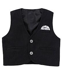 Robo Fry Sleeveless Waist Jacket - Black