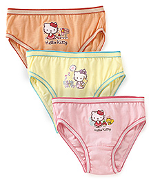 Hello Kitty Panties Set Of 3 - Pink Yellow Peach