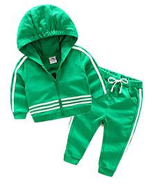 Mauve Collection Cute 2 Piece Hoodie Set - Green