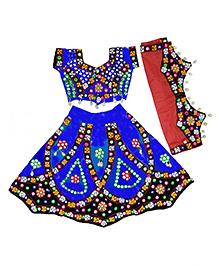 Little Pocket Store Girls Gujrati Traditional Lehenga Choli - Blue