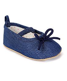 Fox Baby Denim Bellies Shoes - Blue