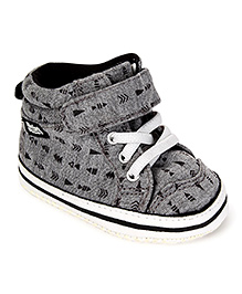 Fox Baby Sneaker Style Booties - Dark Grey