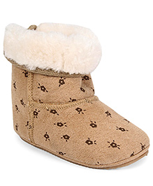 Fox Baby Boot Style Booties - Brown