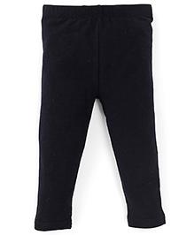 Fox Baby Full Length Plain Solid Color Leggings - Black