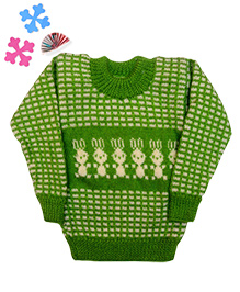GoCuddle By Jasleen Sweater For Boys - Green