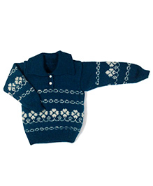 GoCuddle By Jasleen Sweater For Boys - Peacock Blue