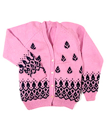 GoCuddle By Jasleen Cardigan For Girls - Light Pink