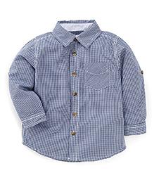 Fox Baby Full Sleeves Check Shirt - Navy