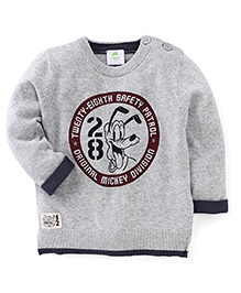 Fox Baby Full Sleeves Sweatshirt With 28 Print - Grey