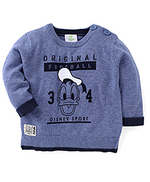Fox Baby Full Sleeves Sweatshirt With Original Football Print - Blue